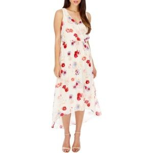 Lucky Brand Hi-Low Midi Dress Floral Medium